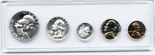 BRILLIANT UNCIRCULATED 1954 PHILADELPHIA MINT SET