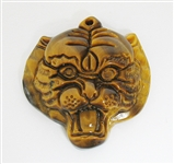 TIGER EYE TIGER HEAD PENDANT