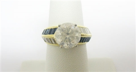 18K DIAMOND AND SAPPHIRE UNITY RING 5.50 C.T.W.