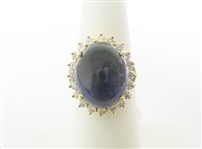 14K AMETHYST AND DIAMOND RING 12.67 C.T.W.