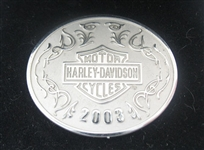 RARE LIMITED EDITION STERLING SILVER HARLEY DAVIDSON 100TH ANNIVERSARY PIN