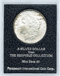 MINT STATE 1897 REDFIELD COLLECTION MORGAN SILVER DOLLAR
