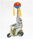 COLLECTIBLE WIND UP CIRCUS ELEPHANT TIN TOY