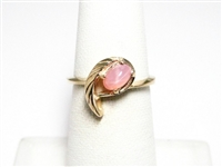 FANCY PINK STAR SAPPHIRE GOLD RING