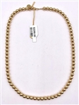 18K GOLD TIFFANY & COMPANY BEAD NECKLACE