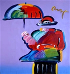 MAX ** UMBRELLA MAN ** SIGNED MIXED MEDIA ORIGINAL