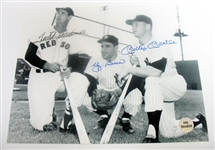 HAND SIGNED MANTLE, WILLIAMS, & BERRA 8X10