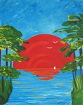 PALYN ***SUMMER TROPICS *** SIGNED CANVAS