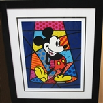 BRITTO ****MICKEY MOUSE****FRAMED, ESTATE ITEM