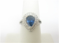 PLATINUM SAPPHIRE AND DIAMOND RING 2.54 C.T.W., GIA CERTIFIED