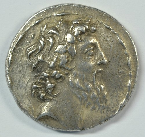 SUPERB SELEUKID KINGDOM SILVER TETRADRACHM OF DEMETRIOS II, 129 TO 125 BC