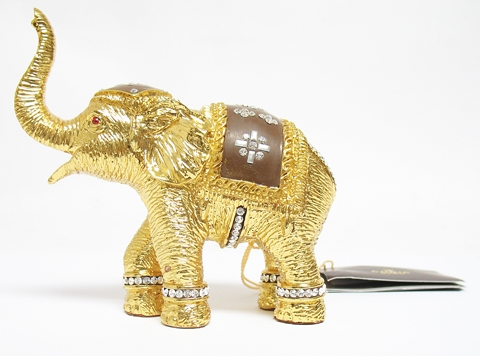 NEW 24K GOLD PLATED ELEPHANT BRONZE