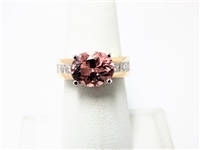 3.75 CT MORGANITE & DIAMOND 14K TWO TONE RING