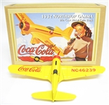 COCA-COLA 1932 NORTHROP GAMMA METAL COIN BANK