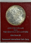 GEM BU 1897-S MORGAN SILVER DOLLAR. MS65 REDFIELD