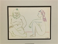 PICASSO *THE HUMAN COMEDY 27.1.54 XIV* MATTED LITHOGRAPH