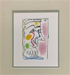 "PICASSO *THE TASTE OF HAPPINESS"" MATTED LITHOGRAPH"