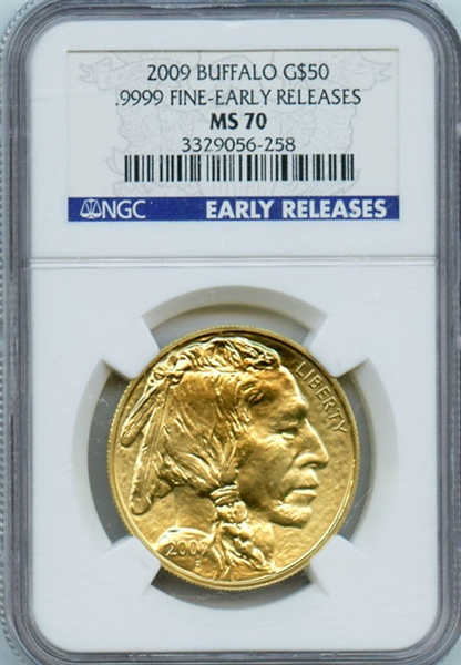 FLAWLESS SUPER GEM 2009 $50 BUFFALO GOLD EARLY RELEASES MS70