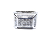 14K WHITE GOLD DIAMOND RING 3.50 C.T.W.