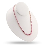14K RUBY AND DIAMOND NECKLACE 24.59 C.T.W.