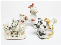 GROUP OF 3 OCCUPIED JAPAN ANIMAL FIGURINES