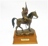 "FRANKLIN MINT CIVIL WAR ""PRIDE OF THE SOUTH"" ROBERT E. LEE BRONZE"