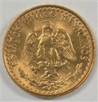 AWESOME SUPERB GEM BU MEXICO 2 PESOS GOLD PIECE