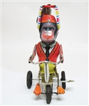 COLLECTIBLE WIND UP MONKEY TIN TOY