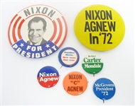 ASSORTED VINTAGE CAMPAIGN BUTTONS