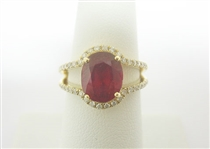 14K RUBY AND DIAMOND RING 4.47 C.T.W.