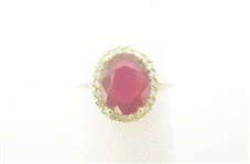 14K RUBY AND DIAMOND RING 3.54 C.T.W.