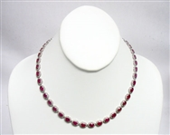 14K RUBY AND DIAMOND NECKLACE 26.28 C.T.W.
