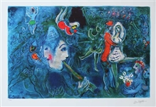 CHAGALL ** CIRCUS CLOWN AND DANCER **