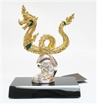 24K GOLD PLATED CHINESE DRAGON BRONZE