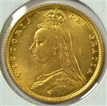 SIMPLY SUPERB GEM BU 1892 GREAT BRITAIN GOLD HALF SOVEREIGN