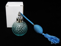 NEW BLUE CRYSTAL PERFUME BOTTLE