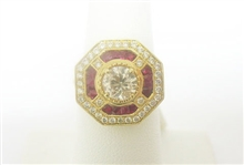 14K DIAMOND AND RUBY RING 2.53 C.T.W.