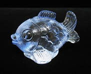 WATERFORD CRYSTAL LARGE BLUE FISH