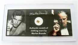 MARLON BRANDO AUTHENTIC WORN SWATCH OF CLOTHING, ESTATE ITEM