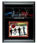 Metallica Autographed Framed Photo Display