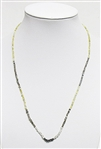 MULTI COLOR ROUGH DIAMOND NECKLACE WITH STERLING SILVER CLASP, 26 C.T.W.