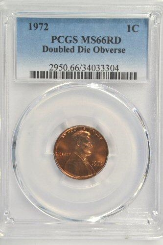 SUPERB FULL RED GEM BU 1972 DDO LINCOLN CENT. PCGS MS66RD