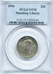RARE FIRST YEAR LOW MINTAGE 1916 STANDING LIBERTY QUARTER
