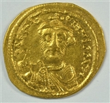SUPER SCARCE LOVELY NEAR MINT CONTANS II BYZANTINE GOLD SOLIDUS, 641-688 AD