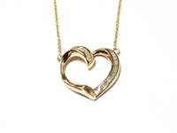 .25 CT DIAMOND MODERN HEART PENDANT AND CHAIN