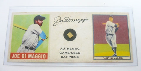 JOE DIMAGGIO AUTHENTIC GAME USE BAT PIECE, ESTATE ITEM