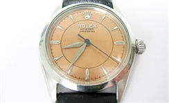 CONTENT OF SAFE DEPOSIT BOX: RARE 1958 ROLEX OYSTER SPEEDKING WATCH