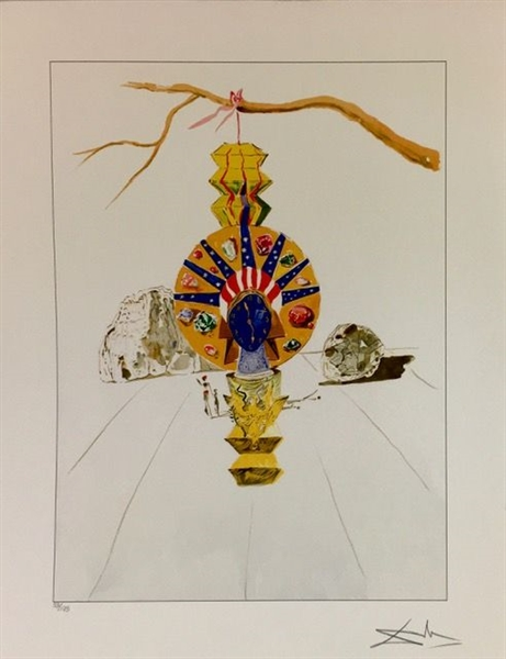 DALI *AMERICAN CLOCK (TIMELESS STATUE)* FIRST EDITION GICLEE