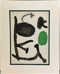 MIRO *UNTITLED* LITHOGRAPH MATTED