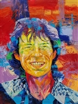TADEO ZAVALETA ** MICK JAGGER ** ORIGINAL ACRYLIC ON CANVAS